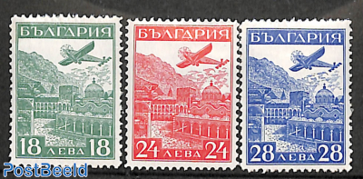 International airmail exposition 3v