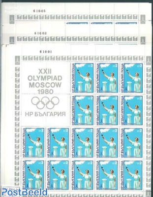 Olympic games 6 sheets