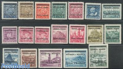 Definitives, overprints 19v