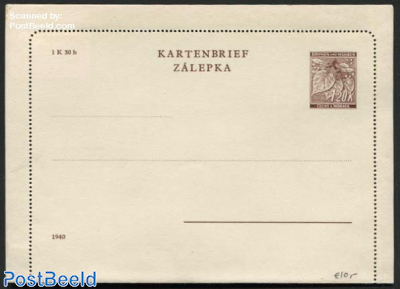 Card Letter 1.20K, Year 1940