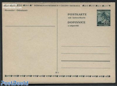 Reply Paid Postcard 60/60h