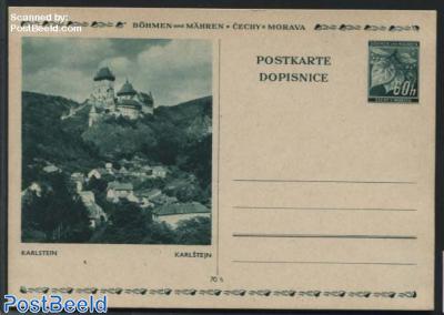 Illustrated Postcard 60h, Karlstein