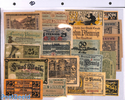 Notgeld Collection, 20 notes