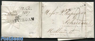 Letter from Morlaix via Rotterdam to Schiedam (NL)