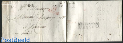 Letter from Arras to Schiedam (NL)