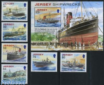 Shipwrecks 6v+s/s