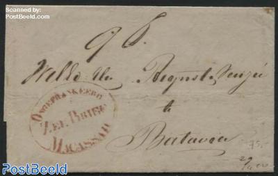 Ship Mail, Postmark: Zee Brief Ongefrankeerd Macassar