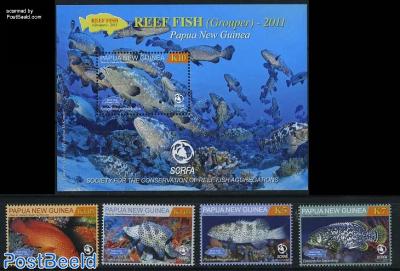 Reef fish 4v+s/s