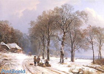 Barend Cornelis Koekkoek, Winterlandschap ca 1838