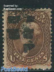 5c Brown, used