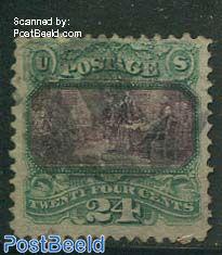 2c Green/Violet, used
