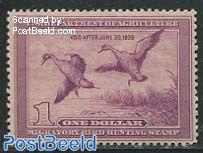 Migratory bird hunting stamp 1v, Pintail Drake