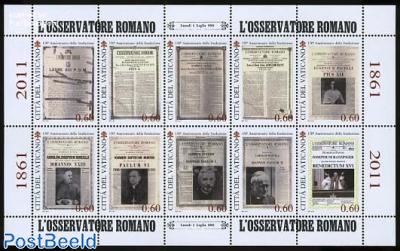 150 Years LOsservatore Romano 10v m/s