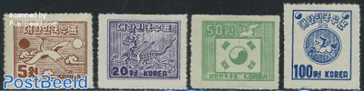 Definitives 4v (perf. 11), no WM